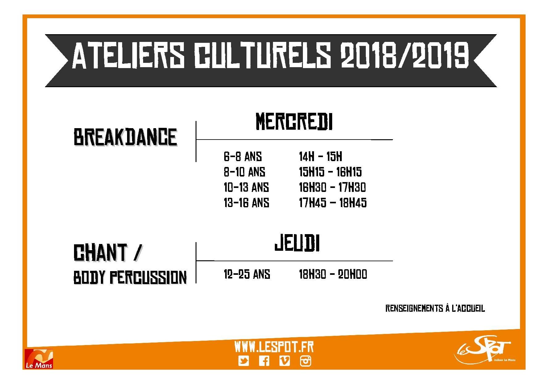 Saison 2018  2019 culturels
