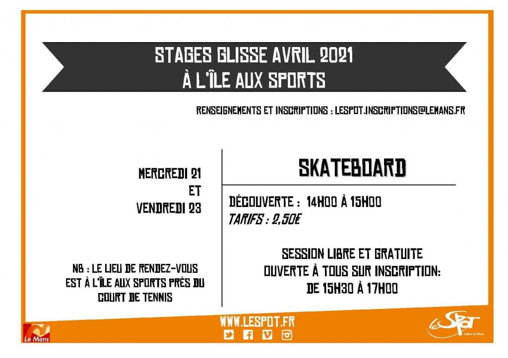 STAGES Glisse Avril 2021