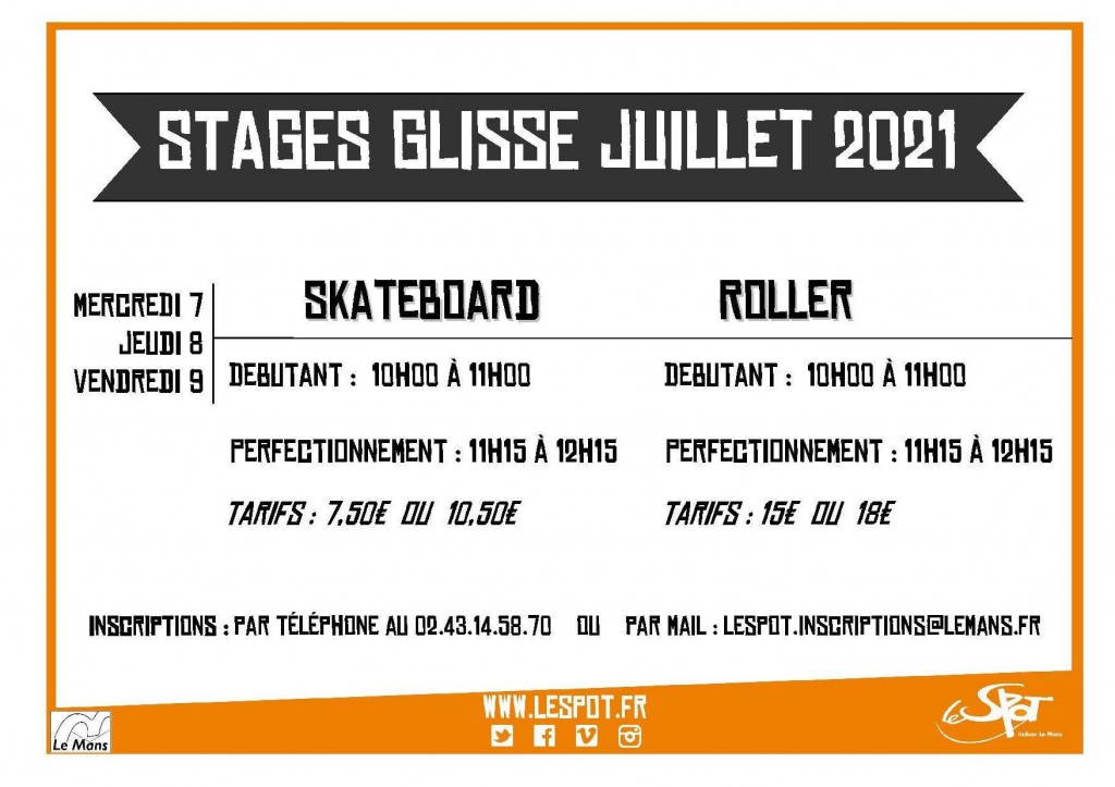 STAGES Glisse Juillet 2021